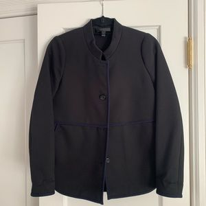 Jcrew banded collar overcoat